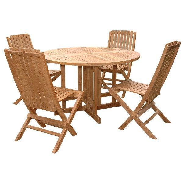 Anderson Teak Butterfly Comfort 5-Pieces Dining Table Set Dining Set