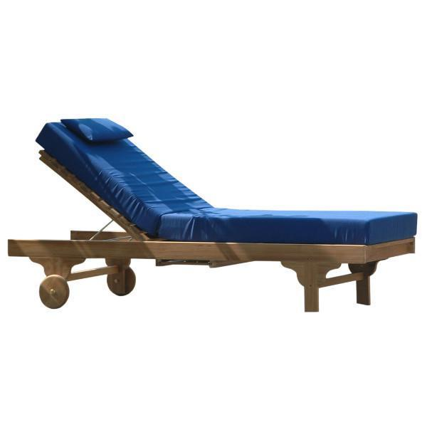 Anderson Teak Capri Sun Lounger Adjusted Back & Side Tray Lounger