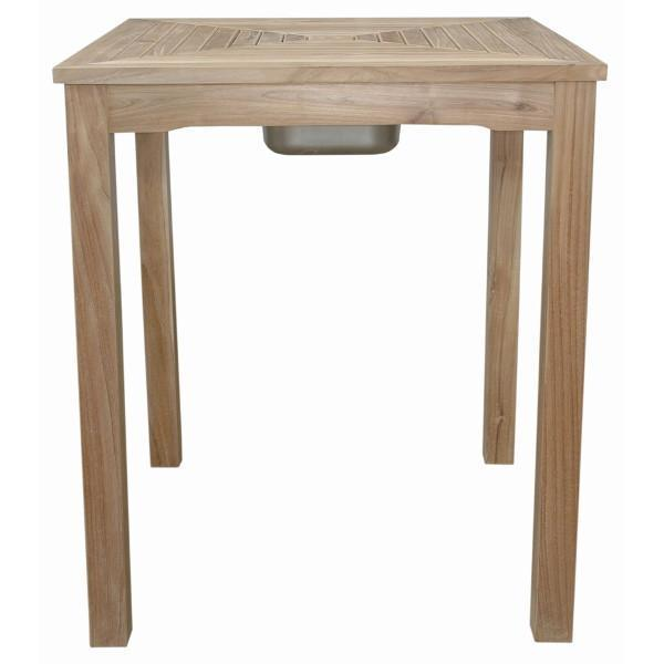 Anderson Teak Chatsworth Ice Chiller Bar Table bar table