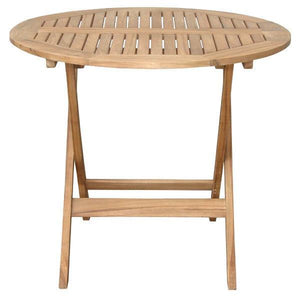 "Anderson Teak Chester 32"" Round Folding Picnic Table Folding Table"