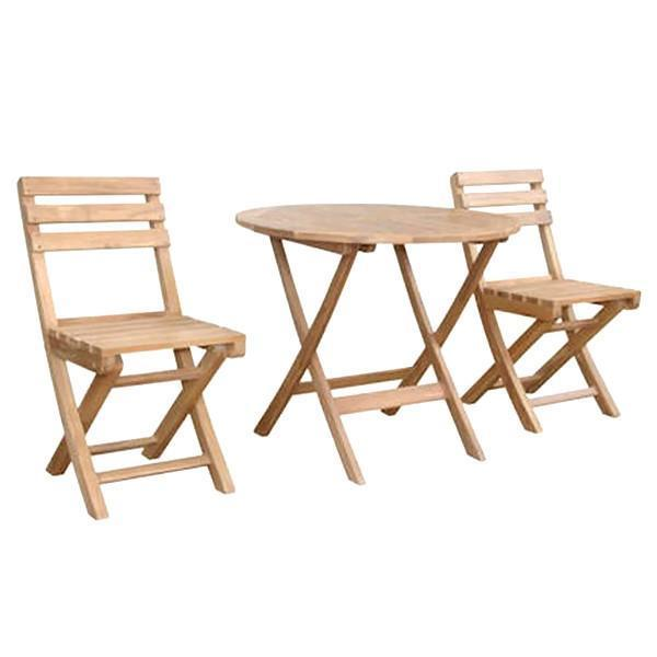 Anderson Teak Chester Alabama 3-Pieces Bistro Set dining set