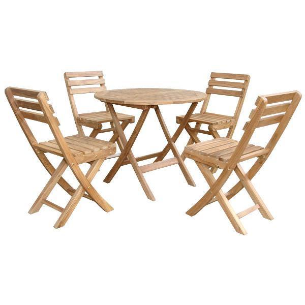 Anderson Teak Chester Alabama 5-Pieces Bistro Set dining set