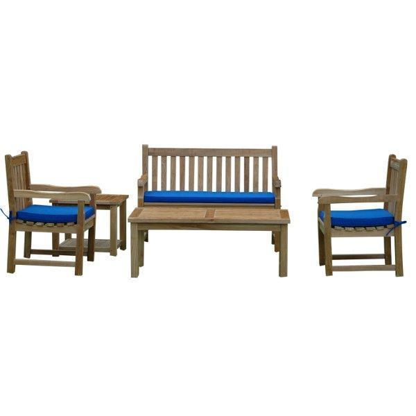 Anderson Teak Classic 2-Seater 5-Pieces Conversation Set Seating Set