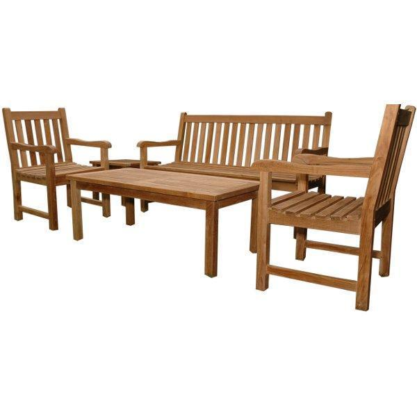 Anderson Teak Classic 3-Seater 5-Pieces Conversation Set Seating Set