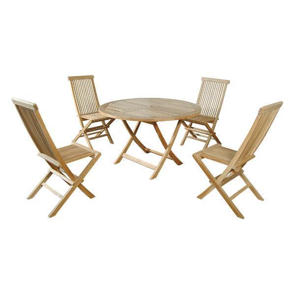 Anderson Teak Classic Bahama 5-Pieces Folding Dining Set Dining Set