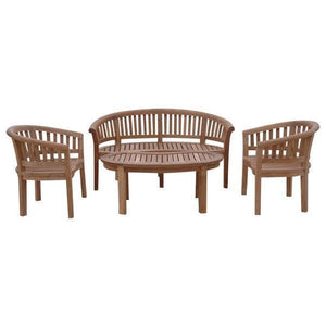 Anderson Teak Curve 4-Pieces Conversation Set Seating Set