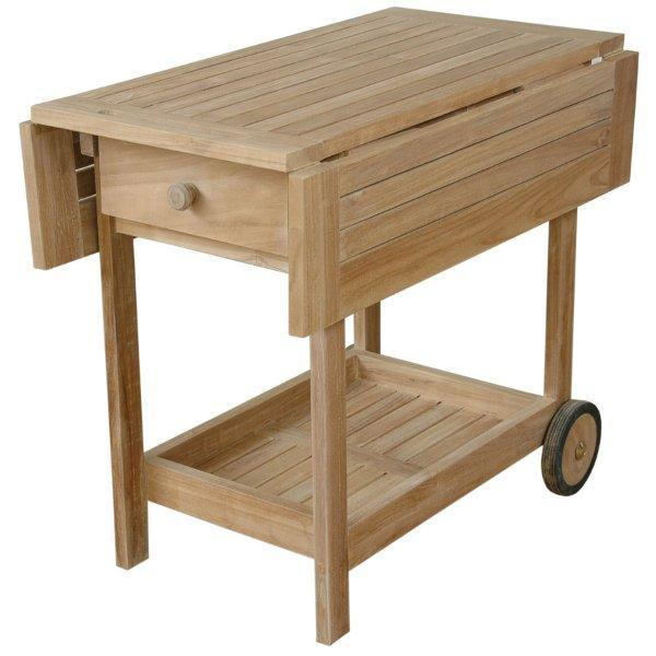 Anderson Teak Danica Serving Table Trolley Trolley