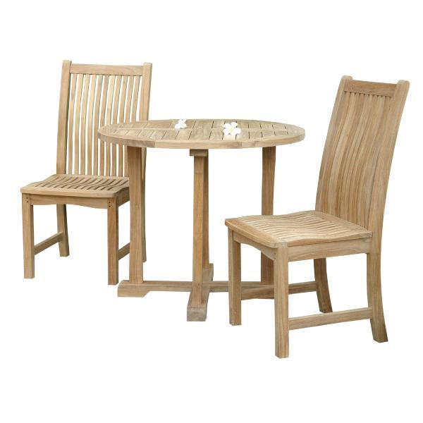 Anderson Teak Decanso Chicago 3-Pieces Bistro Set Dining Set