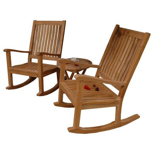 Anderson Teak Del-Amo Bahama 3-Pieces Set with Folding Round Side Table Seating Set