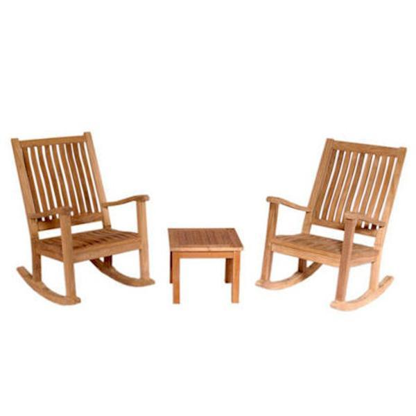 Anderson Teak Del-Amo Bahama 3-Pieces Set with Square Side Table Seating Set