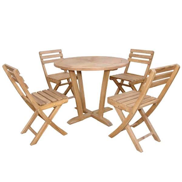 Anderson Teak Descanso Alabama 5-Pieces Bistro Set dining set