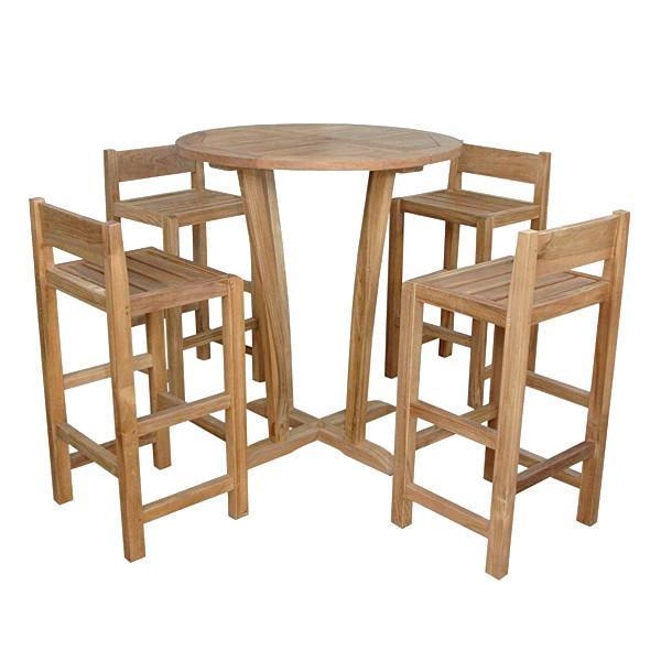 Anderson Teak Descanso Sedona 5-Pieces Bar Table Bar Set
