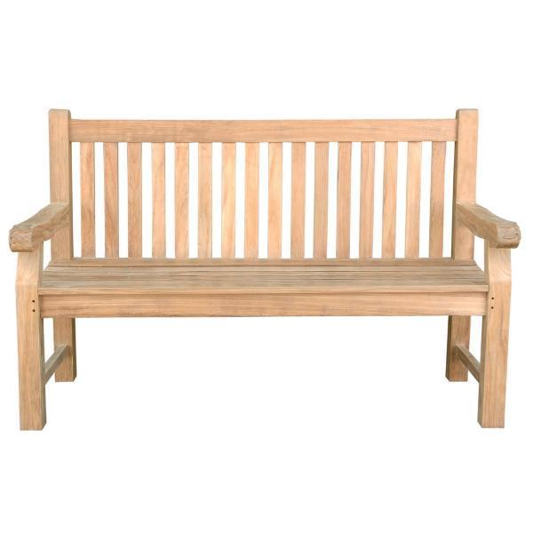 Anderson Teak Devonshire 3-Seater Extra Thick Bench With Flower Handcrafted Bench