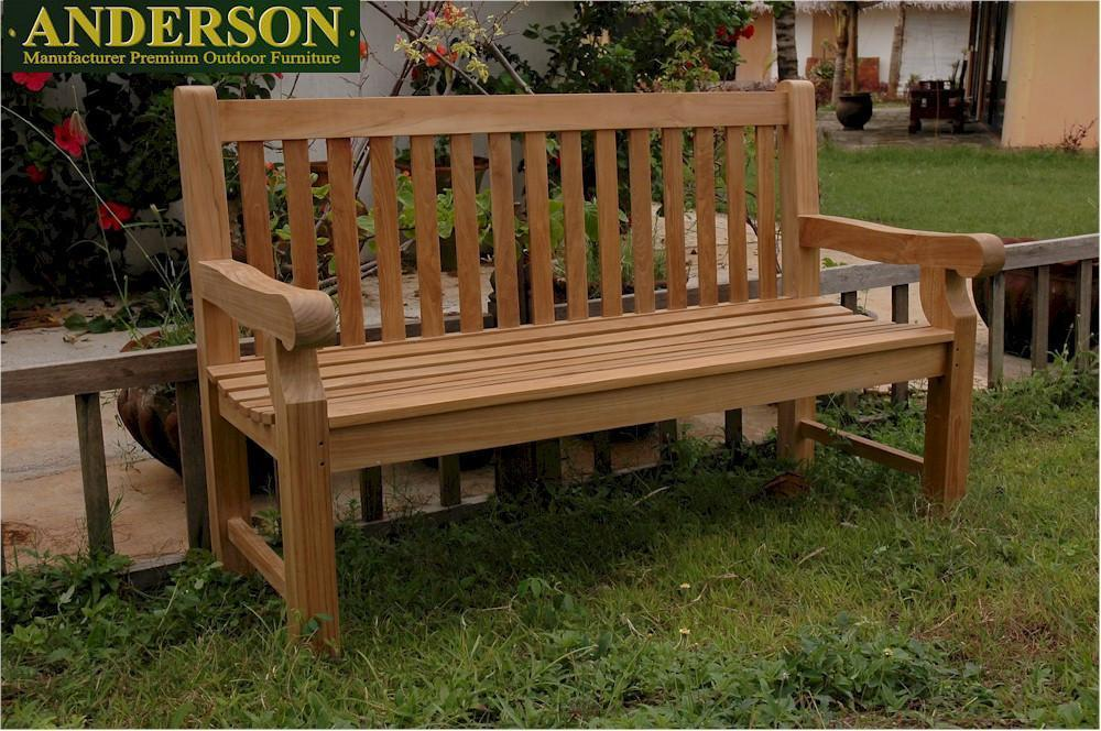 Anderson Teak Devonshire Extra Thick Bench Garden Benches No Cushion / 3 Seater