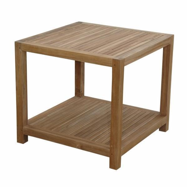 "Anderson Teak Glenmore 22"" Side Table With 1-Tier Side Table"