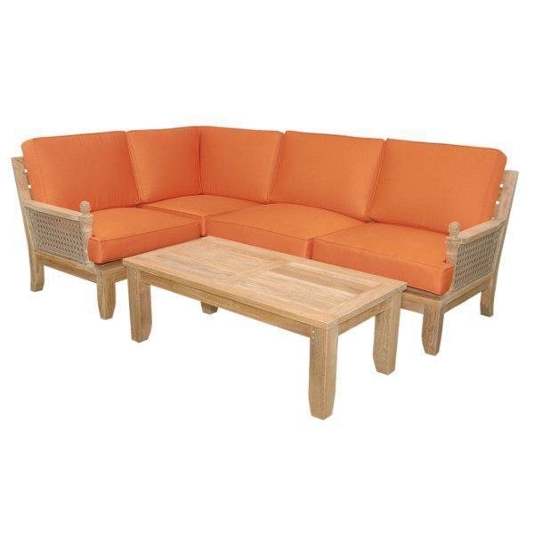 Anderson Teak Luxe 5-Pieces Modular Set Seating Set
