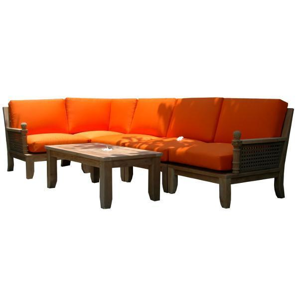 Anderson Teak Luxe 6-Pieces Modular Set Seating Set
