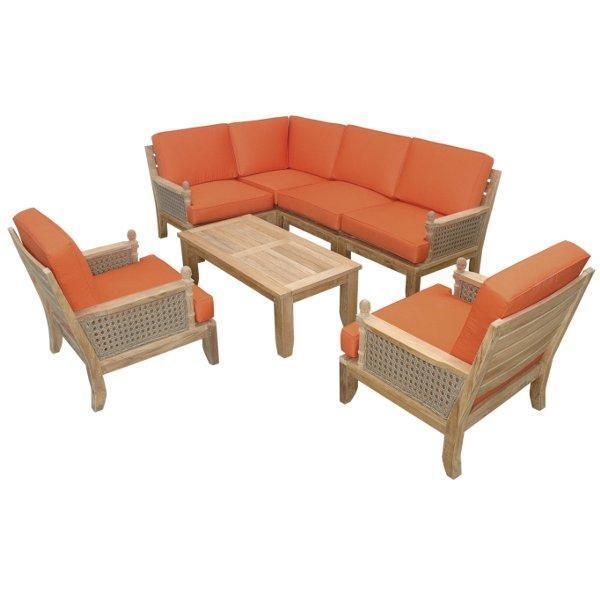 Anderson Teak Luxe 7-Pieces Modular Set Seating Set
