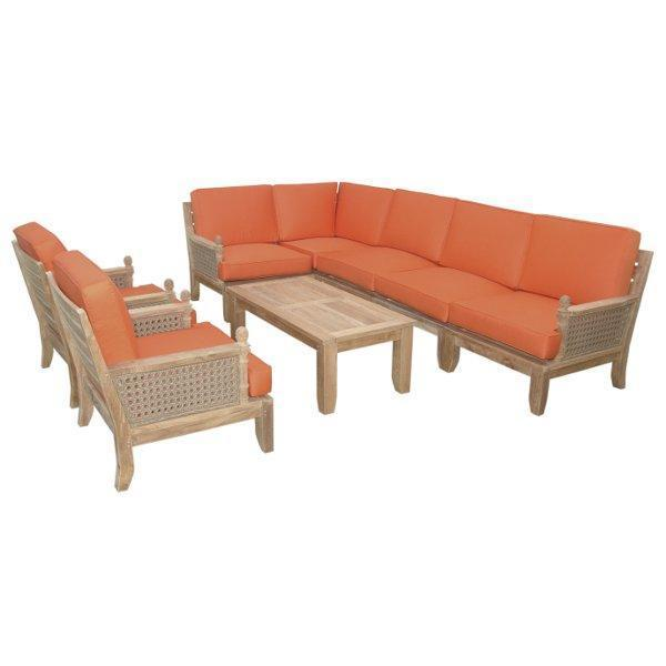 Anderson Teak Luxe 8-Pieces Modular Set Seating Set