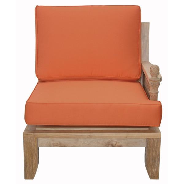 Anderson Teak Luxe Deep Seating Left Modular Outdoor Chairs