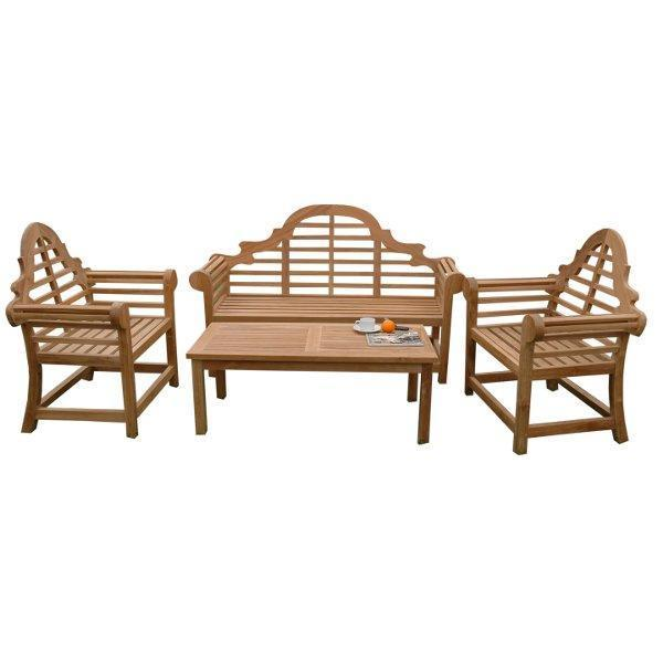 Anderson Teak Marlborough 3-Seater 4-Pieces Conversation Set Seating Set