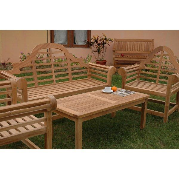Buy The Anderson Teak Marlborough 3 Seater 4 Pieces