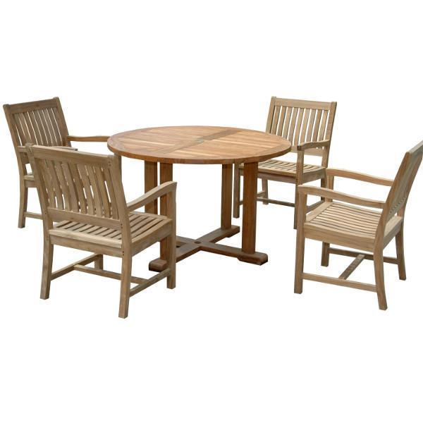 Anderson Teak Mission Aspen 5-Pieces Dining Set Dining Set