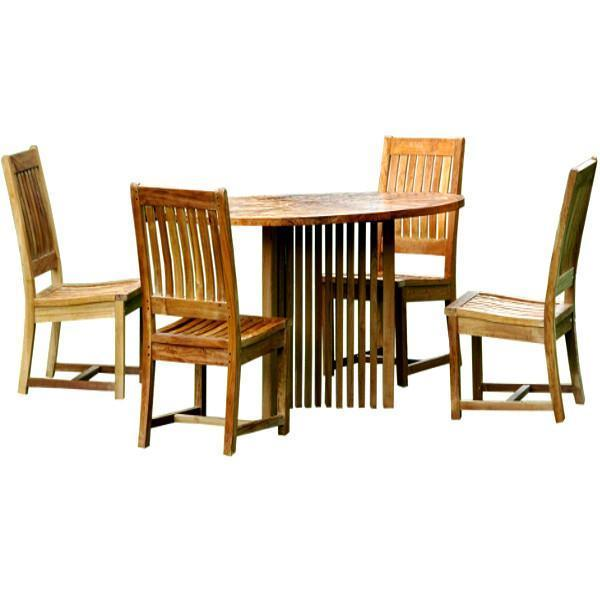 Anderson Teak Mission Rialto 5-Pieces Dining Set Dining Set