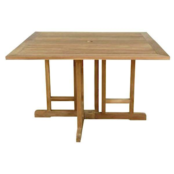"Anderson Teak Montage 47"" Square Folding Butterfly Table Folding Table"