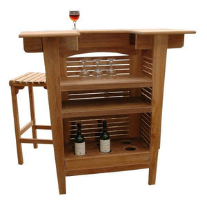 Anderson Teak Montego 3-Pieces Bar Set Bar Set