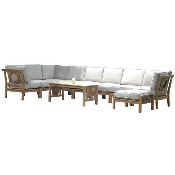 Anderson Teak Natsepa 10-Pieces Modular Set Seating Set