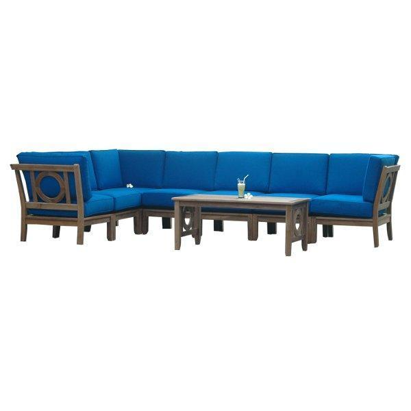 Anderson Teak Natsepa 8-Pieces Modular Set Seating Set