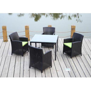 Anderson Teak Palm Beach 5-Pieces Dining Table Set Dining Set