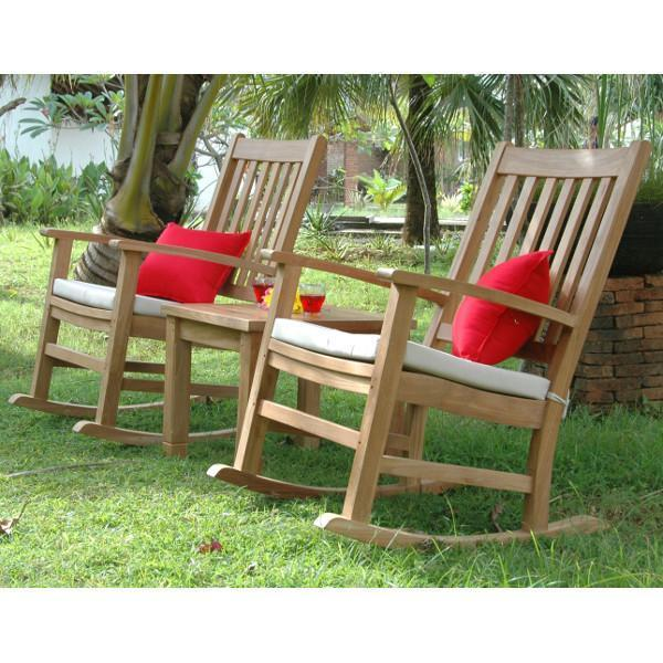 Palm Beach Glenmore 3 Pieces Rocking Chair And Table Set By Anderson Teak The Charming Bench Company