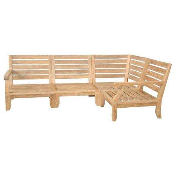 Anderson Teak Riviera Luxe 4-Pieces Modular Set Seating Set