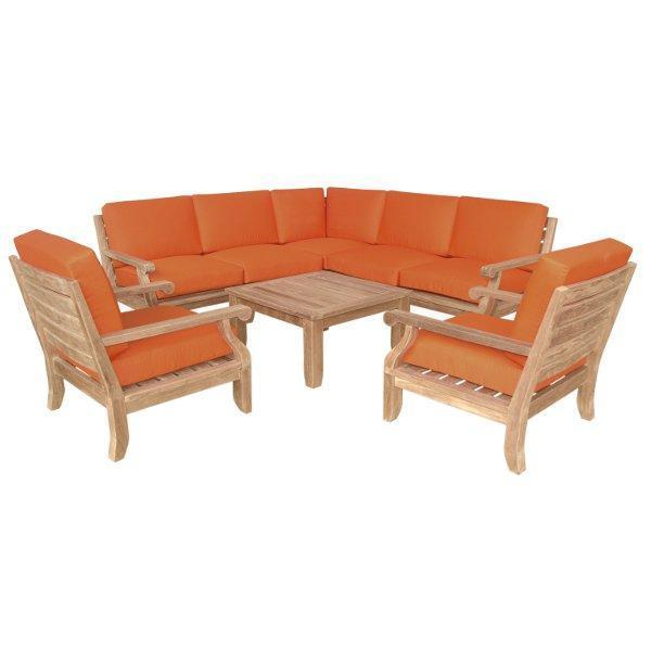 Anderson Teak Riviera Luxe 8-Pieces Modular Set Seating Set