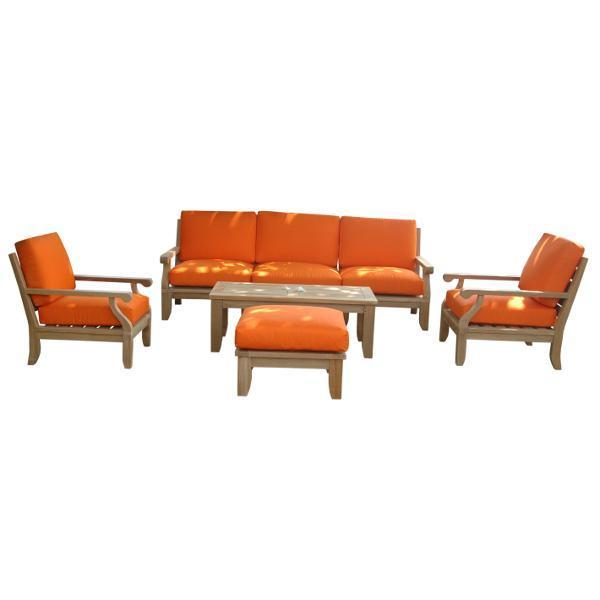 Anderson Teak Riviera Luxe 9-Pieces Modular Set Seating Set