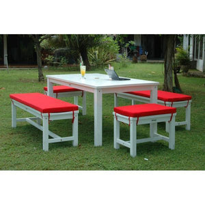 Anderson Teak Riviera Manhattan 5-Pieces Dining Set Picnic Table