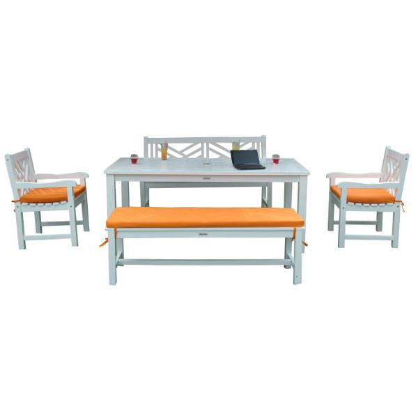 Anderson Teak Riviera Notthingham 5-Pieces Dining Set Picnic Table
