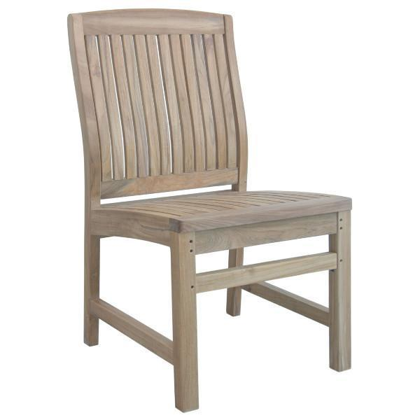 Anderson Teak Sahara Non Stack Dining Side Chair Outdoor Chairs