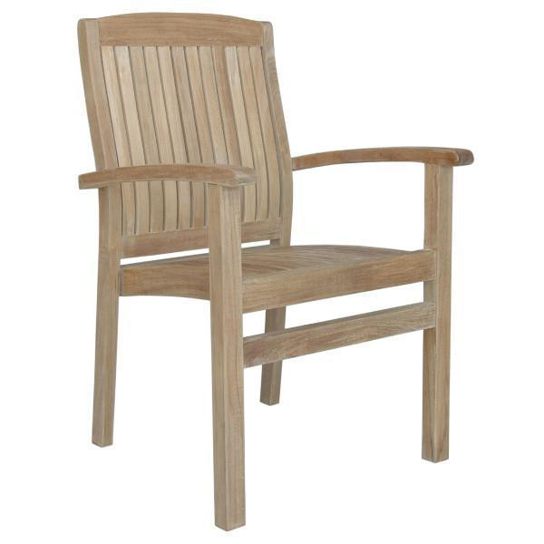 Anderson Teak Sahara Stackable Dining Armchair Outdoor Chairs