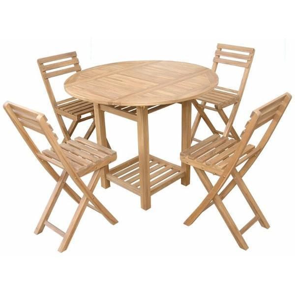 Anderson Teak Seacrest 5-Pieces Counter Table Set Bar Set