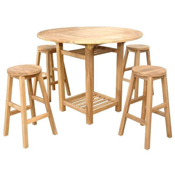 Anderson Teak Seacrest Alpine Round 5-Pieces Counter Table Set