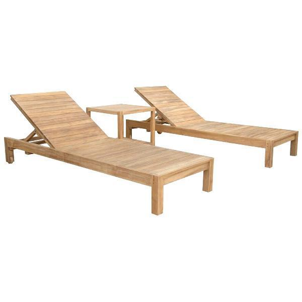Anderson Teak South Bay Glenmore 3-Pieces Lounger Set Lounger