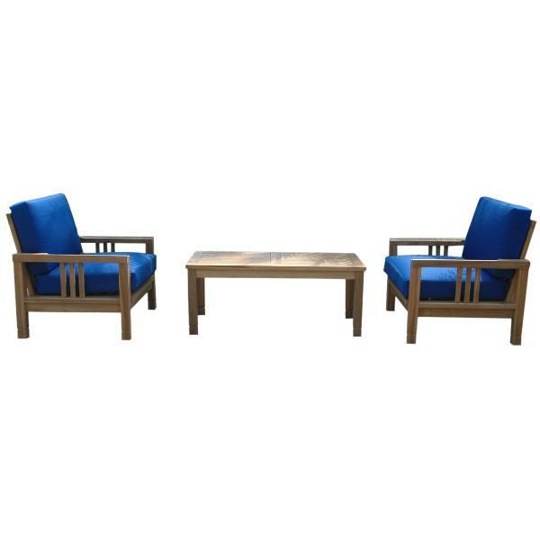 Anderson Teak SouthBay Deep Seating 3-Pieces Conversation Set B Seating Set