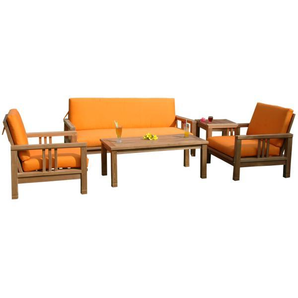 Anderson Teak SouthBay Deep Seating 5-Pieces Conversation Set B Seating Set
