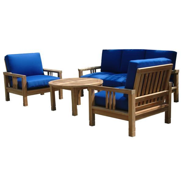 Anderson Teak SouthBay Deep Seating 5-Pieces Conversation Set C Seating Set