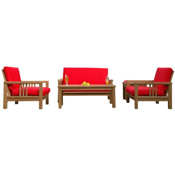 Anderson Teak SouthBay Deep Seating 5-Pieces Conversation Set Seating Set