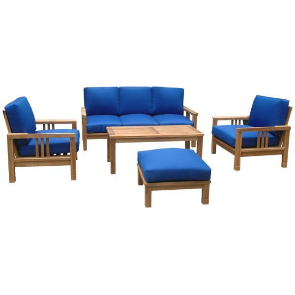 Anderson Teak SouthBay Deep Seating 6-Pieces Conversation Set A Seating Set
