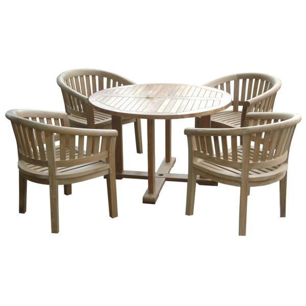 Anderson Teak Tosca 5-Pieces Dining Table Set Dining Set